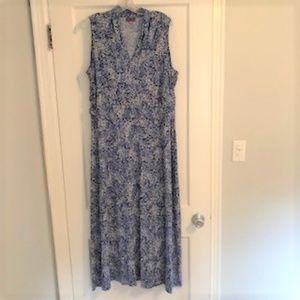 Blue print Vince Camuto long dress